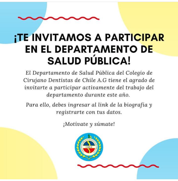 DEPARTAMENTO SALUD PÚBLICA INVITA