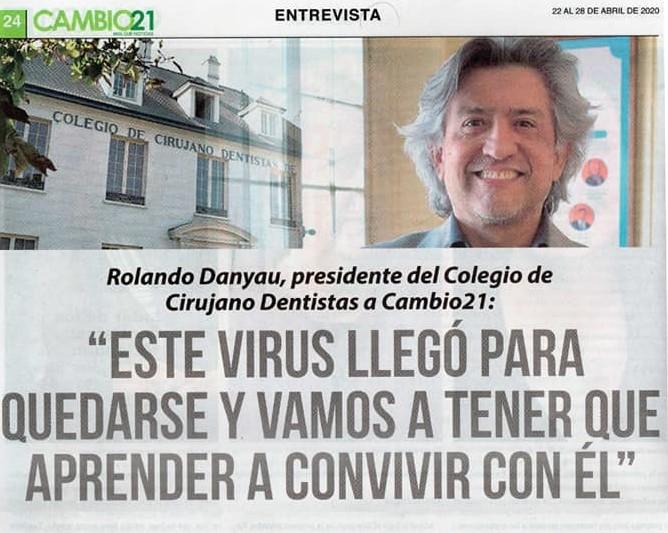 """""""Este virus llegó para quedarse y vamos a tener que aprender a convivir con él"""""""